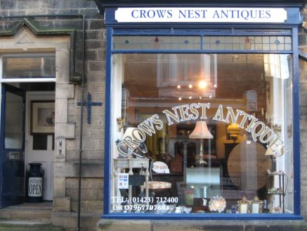 The exterior of Crows Nest Antiques, High Street, Pateley Bridge