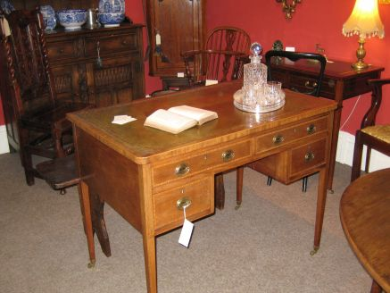 A 19thc mahogany desk at Crows Nest Antiques